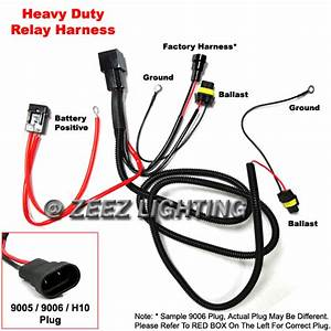 Xenon Hid Conversion Kit Relay Wiring Harness 9005 9006