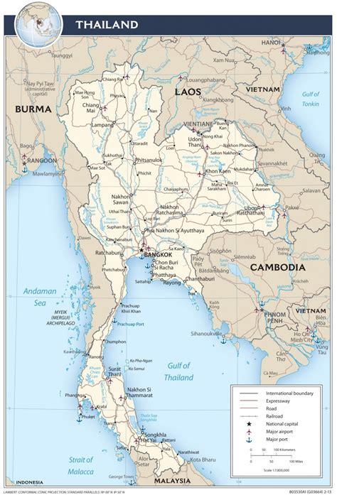 tajlandia mapa mapy tajlandii travelin