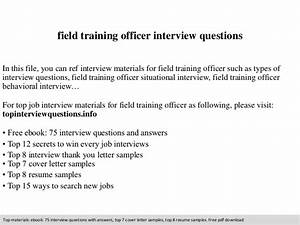 field training officer interview questions With field training officer resume