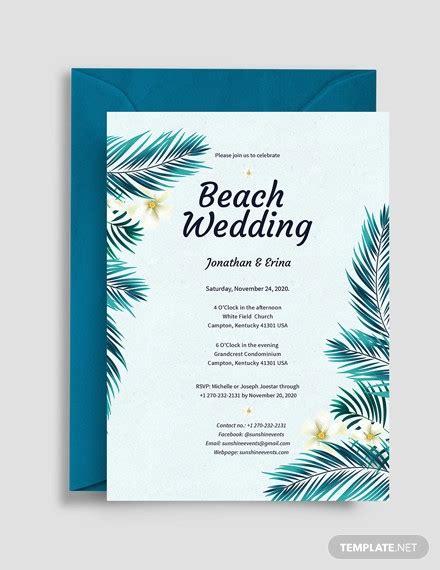 beach wedding invitations psd ai design trends