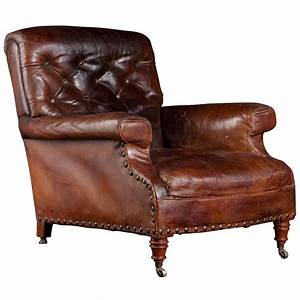Leather, Library, Chair, At, 1stdibs