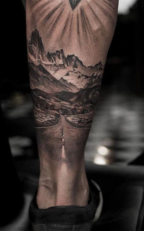follow  road sleeve tattoos leg tattoos leg sleeve