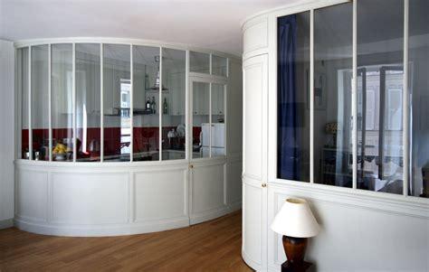 meuble pour separer cuisine salon et pourquoi pas une verrière pour séparer vos pièces 27