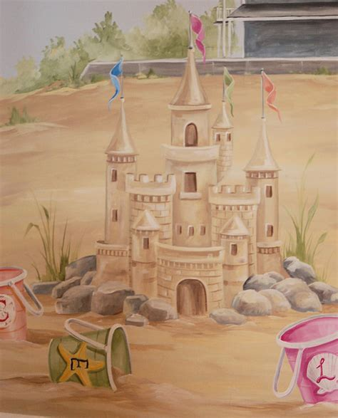 bathroom wall mural ideas sand castle mural in children 39 s room boston by