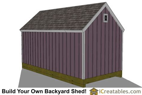 10x20 Storage Shed Plans by 10x20 Colonial Shed Plans Icreatables Sheds