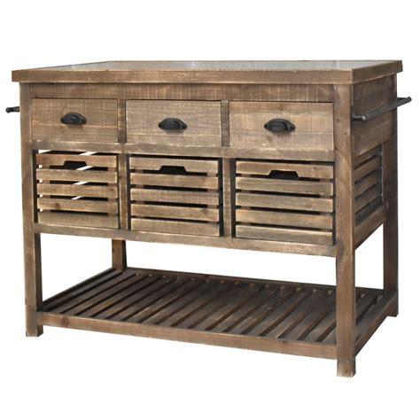 billot de cuisine pas cher meuble ilôt central billot console bahut buffet table de