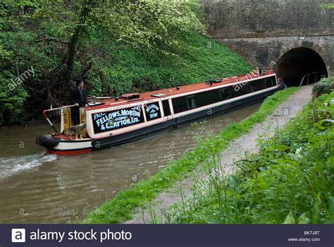Canal Boats England by Narrow Boat Entering A Tunnel Llangollen Canal England