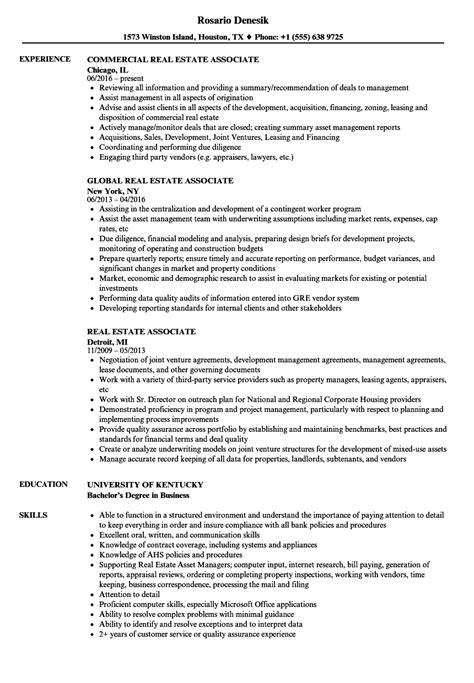 Corporate Resume Builder by Real Estate Associate Resume Sles Velvet