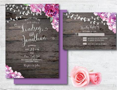 printable wedding invitation purple wedding invitation