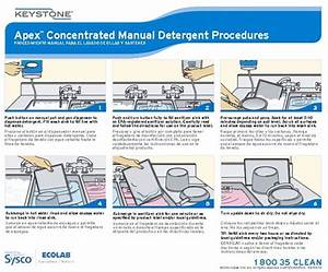 Keystone Apex Concentrated Manual Detergent Wall Chart