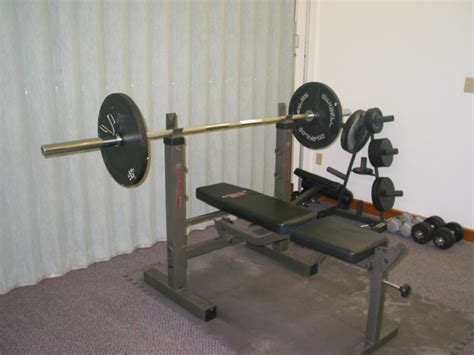Bench Press And Weights For Sale by Design Lift Comfortably With Olympic Weight Bench Set