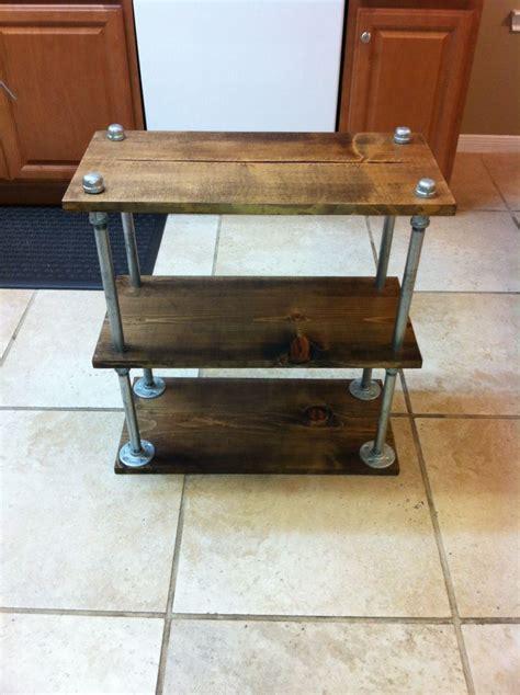 galvanized pipe side table diy pinterest galvanized
