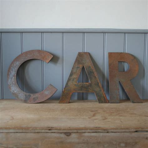 big metal letters large metal letters by homestead 20609 | original large metal letters