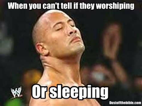 Church Memes - sleeping or worshipping in church meme christianmemes christiancomedy memes christian