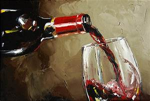 Pouring Wine Painting by Victor Bauer