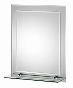 Croydex Rydal Rectangular Double Layer Mirror With Shelf