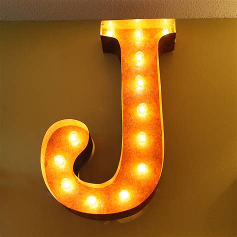 lighting fixtures 24 inch letter j marquee light by vintage marquee lights