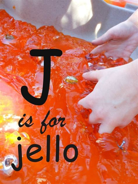 letter   week letter  jello messy play