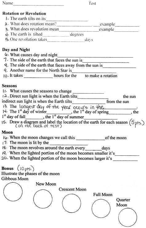 Solar System Worksheet Middle School Pdf  58 Free Space