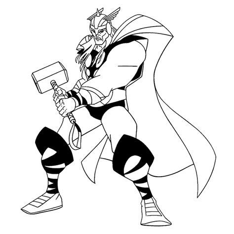 Kleurplaat Thor by Superhelden Kleurplaten Kleurplatenpagina Nl