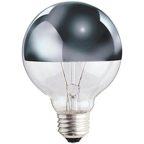 g25 chrome tipped 40w light bulb the land of nod