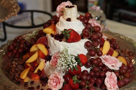 What Better Way To Display Gourmet Cheeses And Fresh Fruit