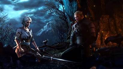 Witcher Ciri Geralt Hunt Wild Rivia Meditating