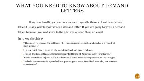 how long after a demand letter does settlement take lovely how after a demand letter does settlement take 22153   how to settle your personal injury claim without a lawyer 20 638