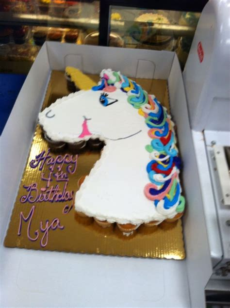 unicorn pull  cake cakes  katie pinterest