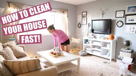 How To Clean Your House Fast Clean With Me!  Hayley