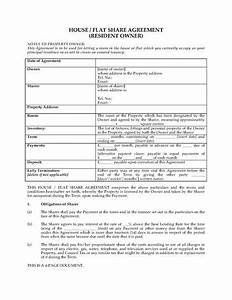uk house flat share agreement with resident owner With house sharing agreement template