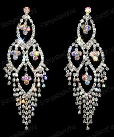 Sparkly Chandelier Earrings by Big 3 75 Quot Rhinestone Earrings Chandelier