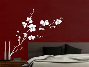 wandtattoos schlafzimmer wandtattoo orchidee mit schönen blüten wandtattoos de