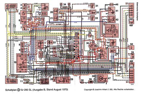 Mercede 280sl Fuse Diagram by Need Colored Fuse Box Diagram For 1971 280sl U S