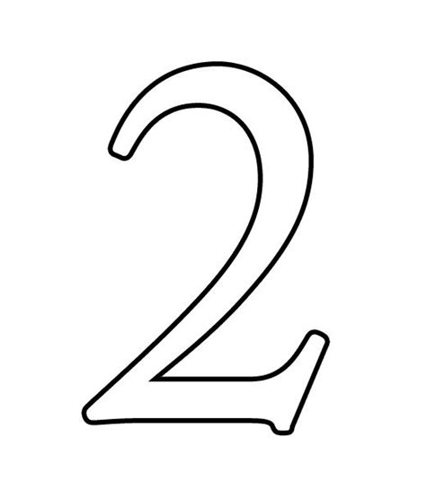 numbers black and white black number 2 clipart clipground