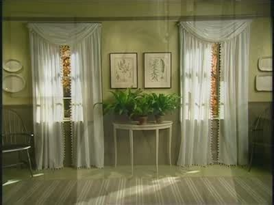 how to hang swag curtains how to hang a swag curtain part 2 martha stewart