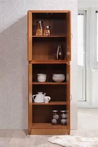 Hodedah, 4-door, Kitchen, Pantry, With, 4-shelves, Cherry, -, Walmart, Com