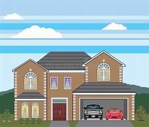 Tür Garage Haus : haus mit offener garage 2 autos offene garage immobilien des ziegelsteines vektor abbildung ~ Sanjose-hotels-ca.com Haus und Dekorationen