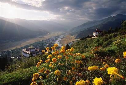 Bhutan Mountains China Paro Valley Travel Nothing