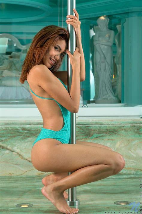 Latin Coed Katy Alvarez Gets Naked In The Hot Tub Coed
