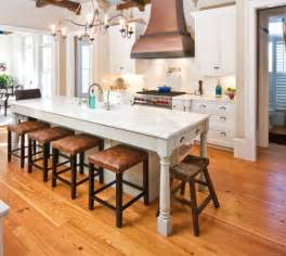 narrow kitchen island ideas 30 kitchen islands with tables a simple but clever combo