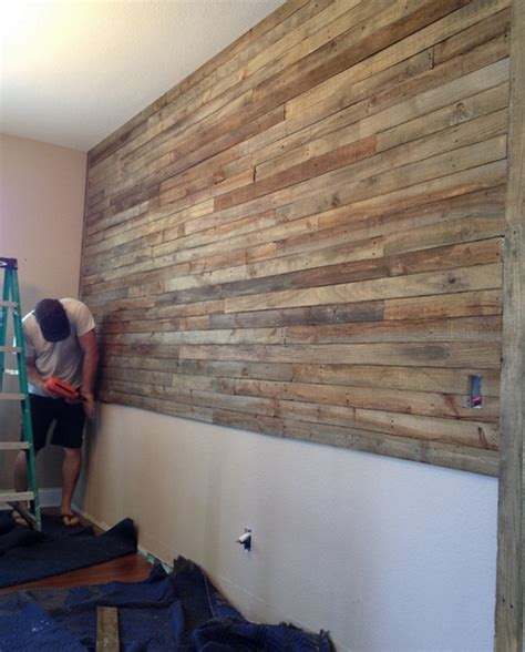 how to build a timber feature wall pallet wall project the owner builder network
