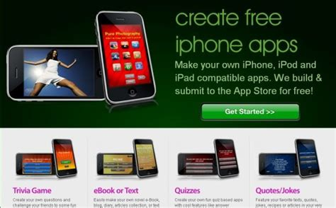 how to develop an app for iphone build your own iphone apps with free iphone app builder