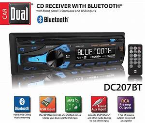 Dual Electronics Dc207bt Multimedia 3 Inch Lcd Single Din Car Stereo With Built