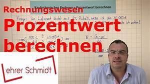 Skonto Berechnen Rechnungswesen : prozentwert berechnen rechnungswesen lehrerschmidt youtube ~ Themetempest.com Abrechnung