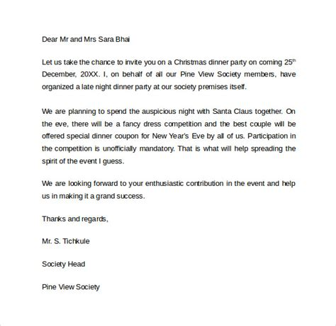 sample invitation letter    documents