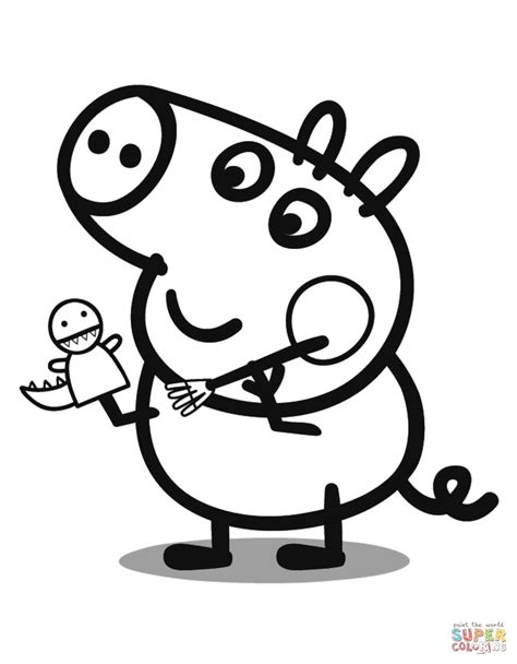 Peppa Pig Coloring Pages George peppa pig coloring pages