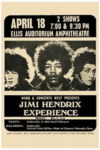 Jimi Hendrix at Memphis Concert Poster 1969 at Endless Posters