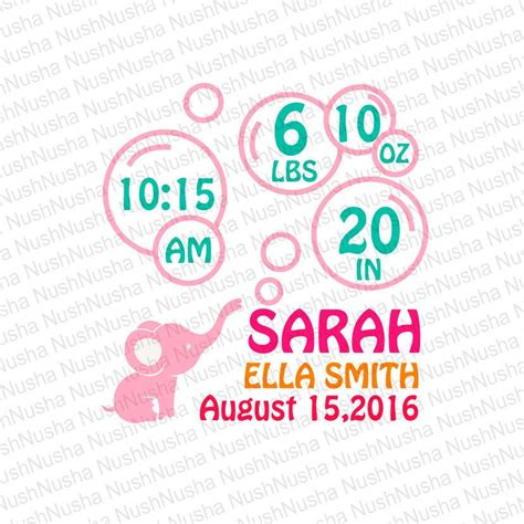 Free photoshop and vector baby announcement templates on behance. Baby Birth Announcement SVG DXF PNG eps cdr Vector