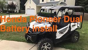 Honda Pioneer Dual Battery Setup